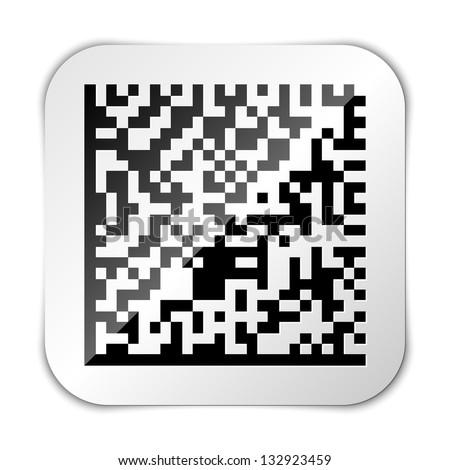 Datamatrix icon - stock vector
