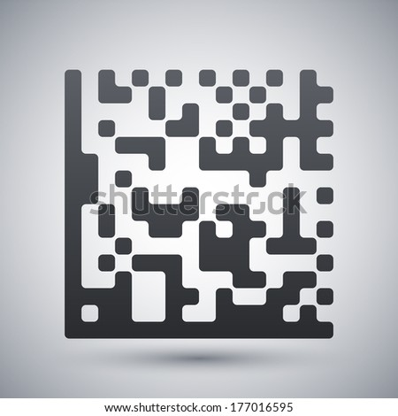 Datamatrix vector icon - stock vector