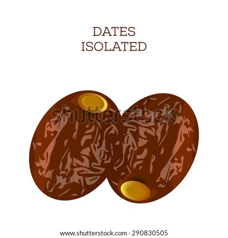 Dates isolated. Vector Illustration - stock vector