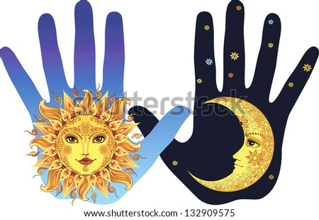 Day and night - stock vector