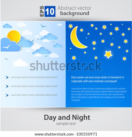 Day and night. Vector Background - stock vector