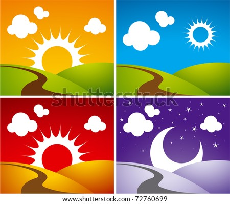 day-night - stock vector