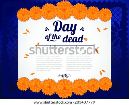 Day of the Dead - Copy Space Horizontal - stock vector