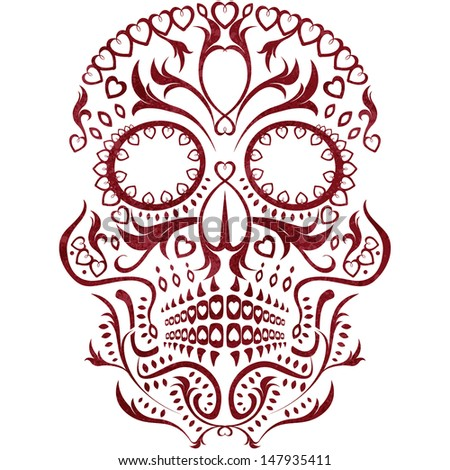 day of the dead skull pattern - stock vector