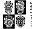 day of the dead skulls - stock vector