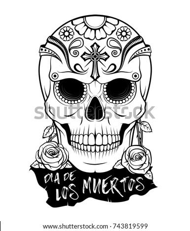 Day Dead Dia De Los Muertos Stock Vector 477868192