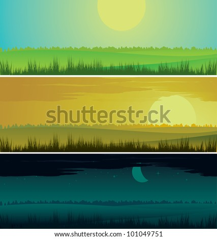 day time - stock vector