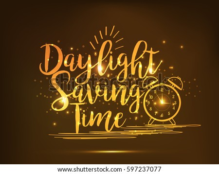 Daylight Saving Time Poster Or Banner Background