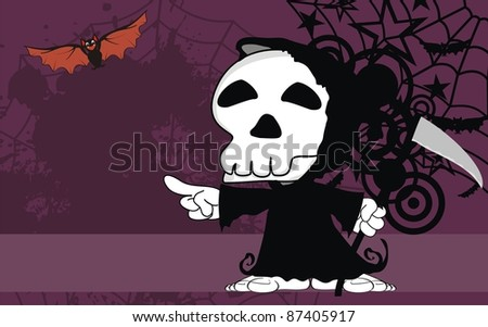 dead funny cartoon background in vector format