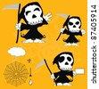 dead funny cartoon set in vector format - stock vector