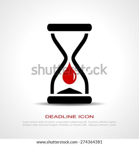 Deadline icon - stock vector