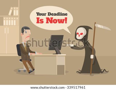 Deadline. Vector flat illustration - stock vector