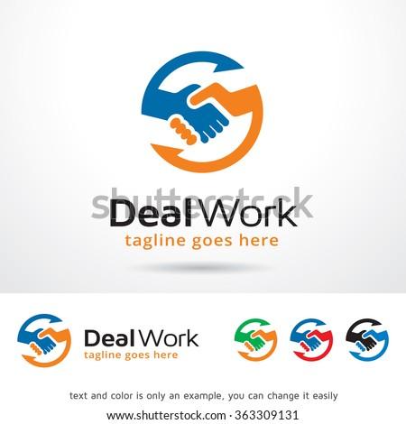 Deal Work Logo Template Design Vector  - stock vector