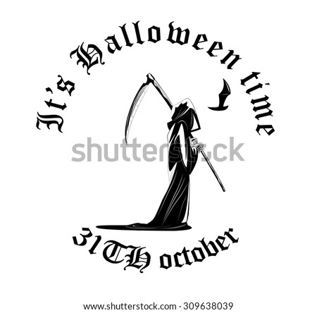 Death skeleton characters suitable for Halloween, logo, religion and tattoo design - stock vector