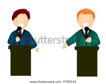 Debate - Vector Icon - stock vector