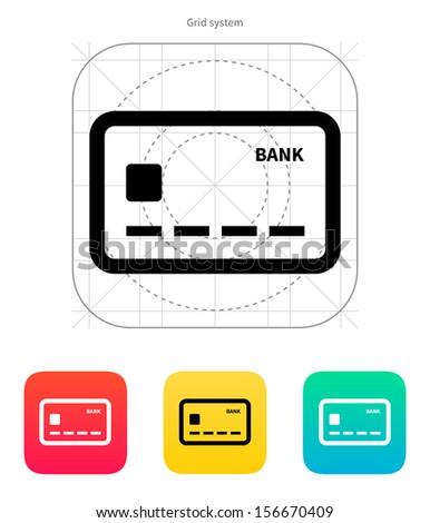 Debit card icon. Vector illustration. - stock vector