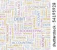 DEBIT. Seamless vector pattern with word cloud. - stock photo