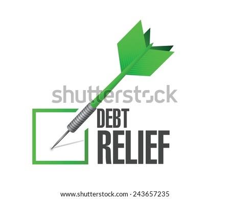 debt relief check mark illustration design over a white background - stock vector