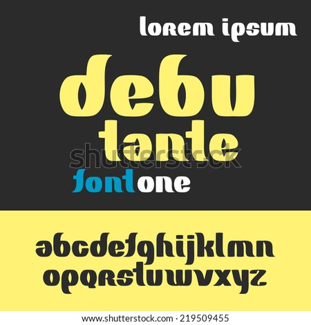 debutante font abc alphabet set - stock vector