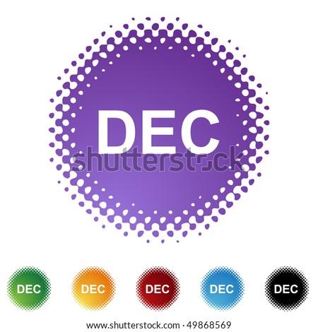 December - stock vector
