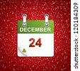 December holiday calendar with Christmas decoration.Vector - stock