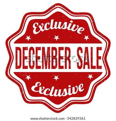 December sale grunge rubber stamp on white background, vector illustration - stock vector