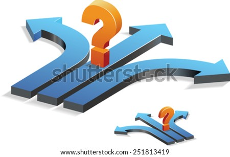 Decision Making/Confusion/question - stock vector