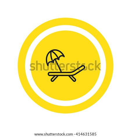 Deckchair icon, Deckchair icon eps 10, Deckchair icon vector, Deckchair icon illustration, Deckchair icon jpg, Deckchair icon picture, Deckchair icon flat, Deckchair design, Deckchair icon web, - stock vector