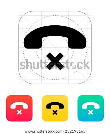 Decline call icon. Vector illustration. - stock vector