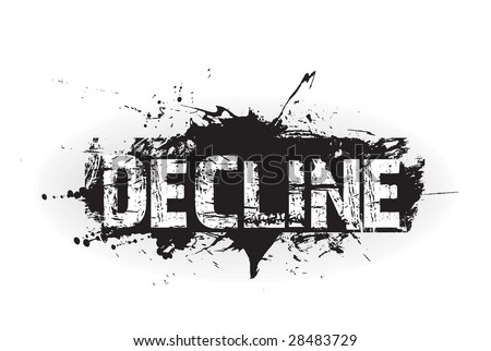 Decline grunge icon,rubber stamps - stock vector