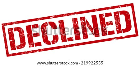 declined stamp - stock vector