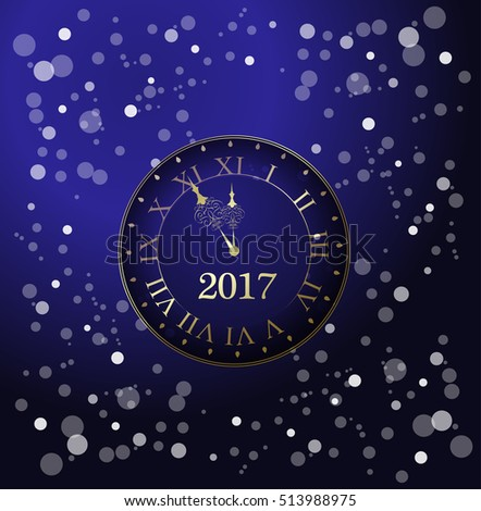 decor chiming clock, happy new year