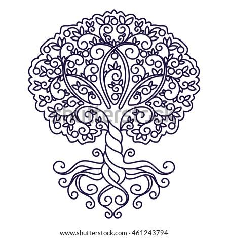 tree mandala coloring pages - photo#27