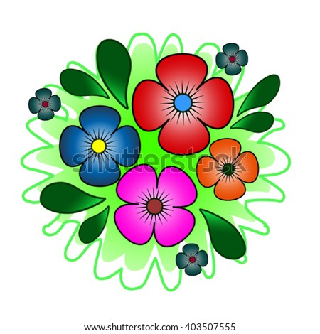 Decor with flowers - stock vector