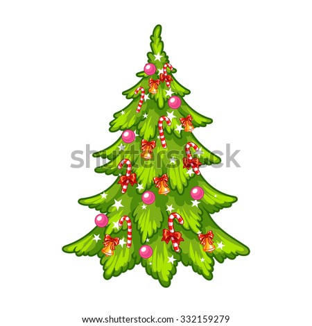 Vector Collection Cartoon Christmas Trees Stock Vector ...