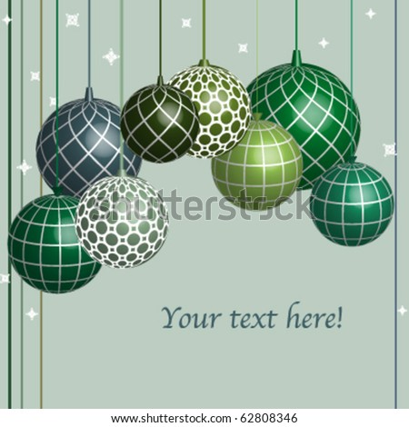 Decoration Christmas balls - stock vector