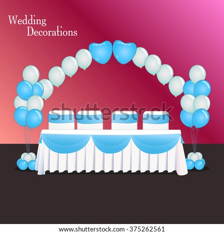 Decoration wedding balloon composition table wedding stock vector decoration for wedding balloon composition table wedding event decor template junglespirit Images