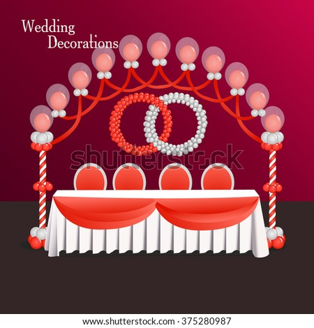 Decoration wedding balloon silver red composition stock photo photo decoration for wedding balloon silver and red composition table wedding event decor junglespirit Gallery
