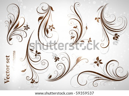 Decoration set - stock vector