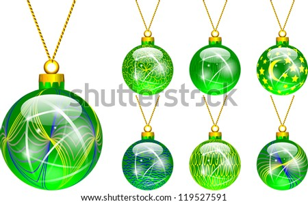 decorations for Christmas tree green