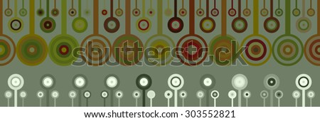 Decorative abstract background lines and circles