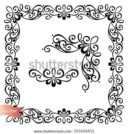 Decorative Abstract Frame, Ornament (Vector). Decorative Corner - stock vector