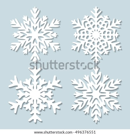 Decorative abstract snowflake. Paper snowflaker. Winter snowflaker. Christmas snowflaker. Vector illustration.