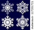 Decorative abstract snowflake. Vector illustration. - stock vector