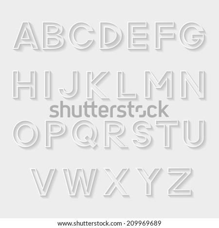 Decorative alphabet. Vector illustration.  - stock vector