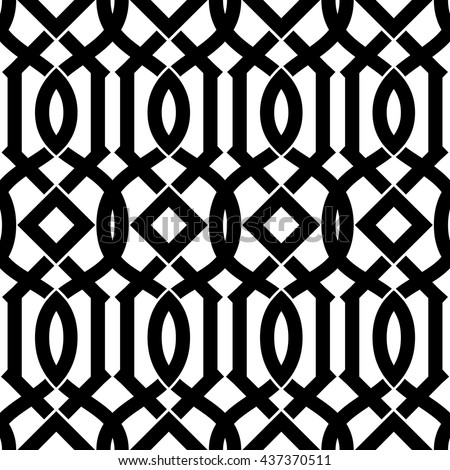 Decorative Arabic pattern. Decorative oriental pattern. Vector Black & White seamless patterns. Interior wall panel pattern. Wallpaper texture background. Vector repeating texture. - stock vector