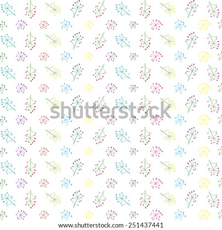 Decorative background of wild multicolored flower - stock vector