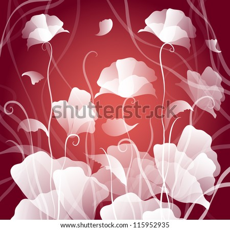 decorative background with flowers - stock vector