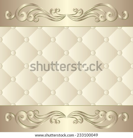 decorative background with ornament - stock vector