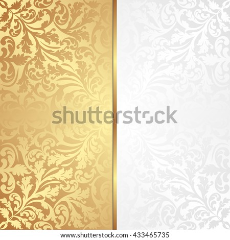 decorative background with ornaments - stock vector